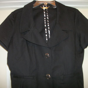 CUTE BLACK DANA BUCHMAN JACKET BLOUSE 14